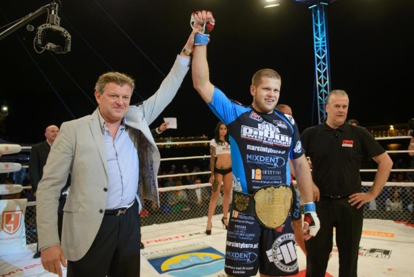 (L-R) M-1 Global promoter Vadim Finkelchtein and M-1 Challenge heavyweight champion Marcin Tybura