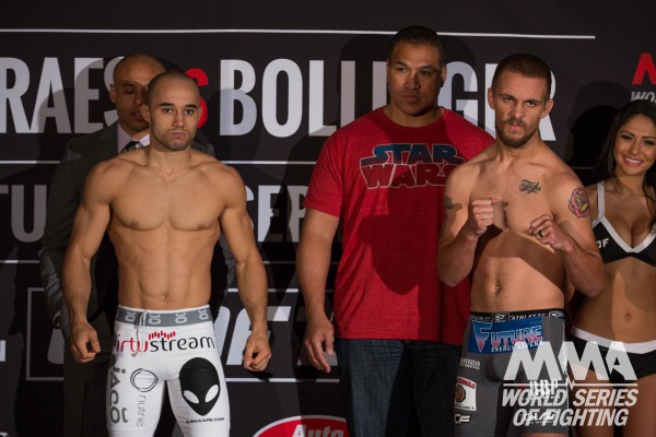 Moraes vs. Bollinger weighin