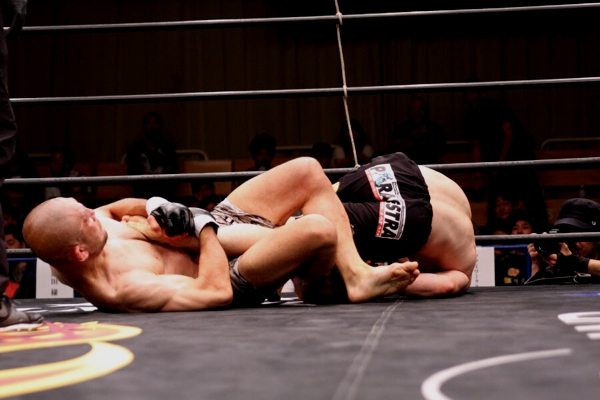 Masakazu Imanari (left) did show more than few leg locks in his last fight but took too many punches and lost via TKO