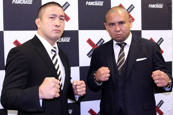 Shungo Oyama (left) and Yuji Sakuragi (right) at the press conference held in Tokyo last month
