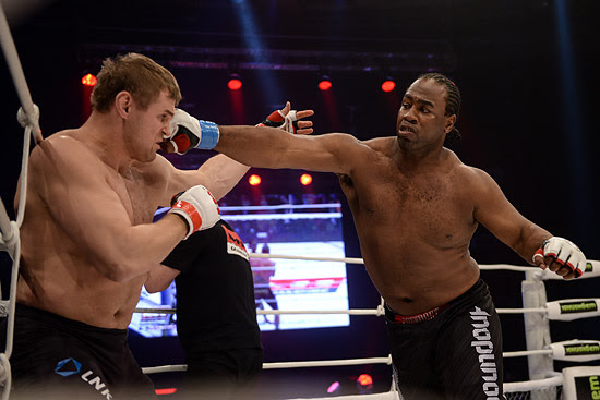 Kenny Garner (right) has stepped up to fight Sergei Kharitonov