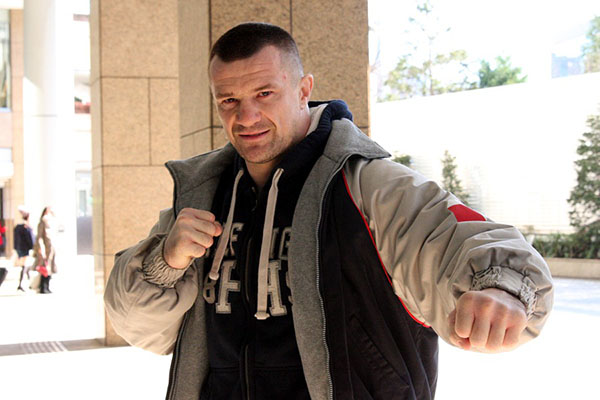 Mirko Cro Cop in Tokyo two days before the fight.