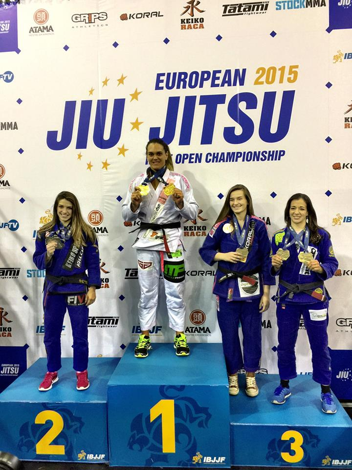 Gabi Garcia top of the podium with Mackenzie Dern