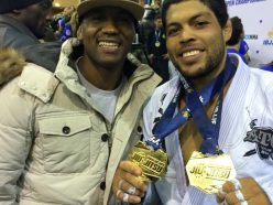Weight and Absolute Champion Andre Galvao with his Master Fernando Terere