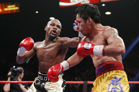 Photo of Floyd Mayweather vs. Manny Pacquiao by Esther Lin/Showtime