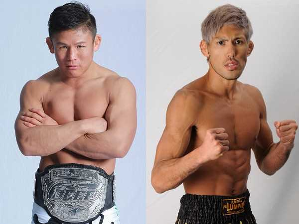 Current DEEP & Pancrase lightweight champ Satoru Kitaoka (left) will take on Yuuki Okano (right) in the headliner of DEEP CAGE IMPACT 2015