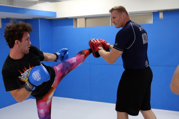 Victor Henry (left) with his chief trainer Josh Barnett (right)