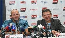 (L) Living MMA legend Fedor Emelianenko and M- Global president Vadim Finkelchtein