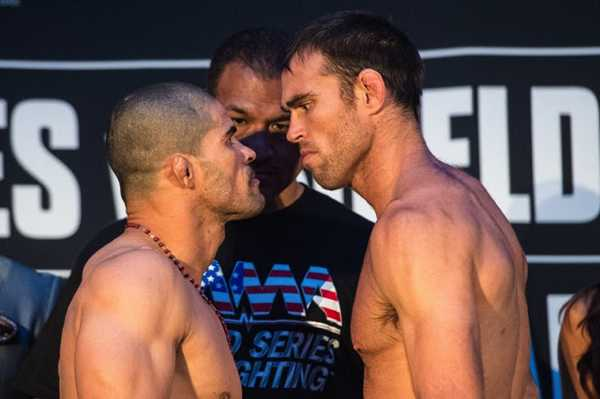 Rousimar Palhares (left) vs. Jake Shields (right)