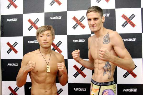 A featherweight fight between ISAO (left) and Will Chope (right) is the headliner of tomorrow's Pancrase 269