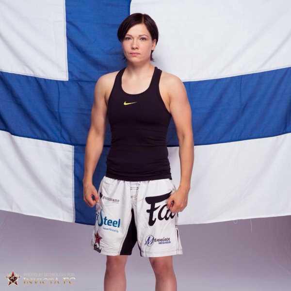 Former Invicta FC champion Katja Kankaanpaa