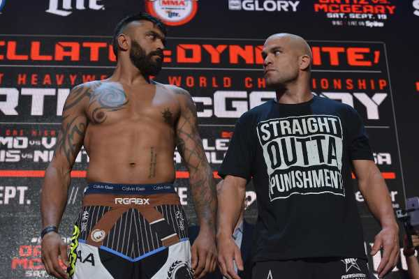 Bellator Light Heavyweight Title Fight: © Liam McGeary (204.8) vs. Tito Ortiz (204.6)