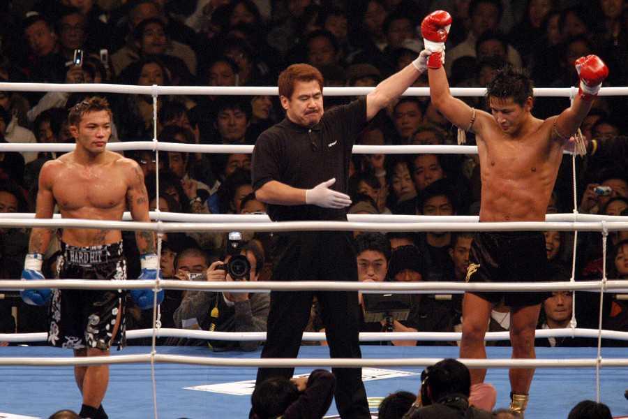 Norifumi KID Yamamoto (left) fought MASATO (right) back in 2004