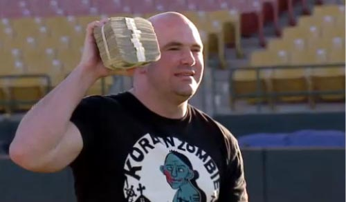 Dana White with Money