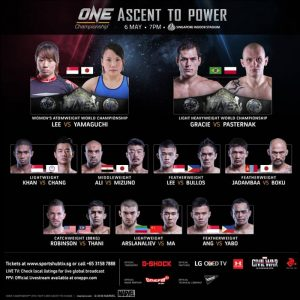 ONE 050616 fight card new