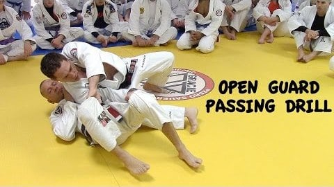 "OPEN GUARD: Passing Drill with Jeff ""Big Frog"" Curran YouTube Thumbnail"