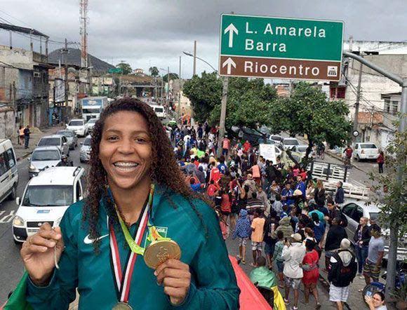 Rafaela Silva, in Brazil 1