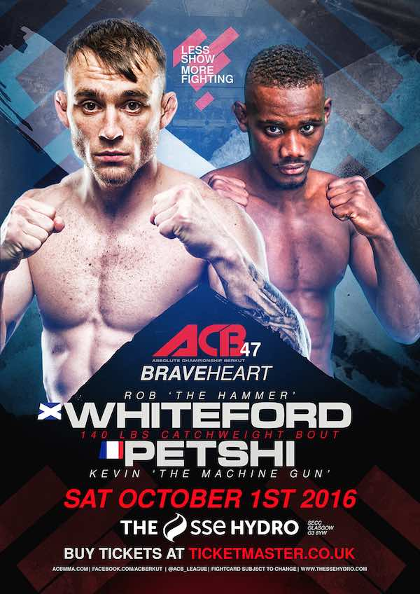 Whiteford vs Petshi is Official for ACB 47 on October 1st