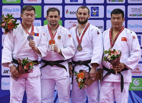 Men -100kg medalists Qingdao2016
