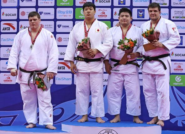 Men +100kg medalists Qingdao2016