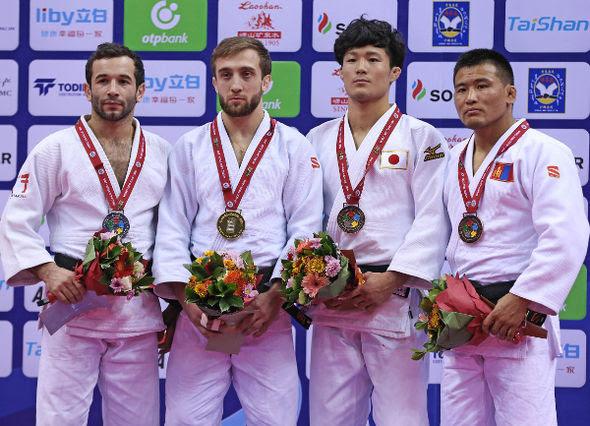 Men -66kg medalists Qingdao2016