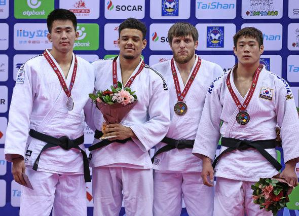 Men -90kg medalists Qingdao2016