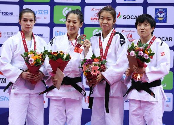 Women -48kg medalists Qingdao2016