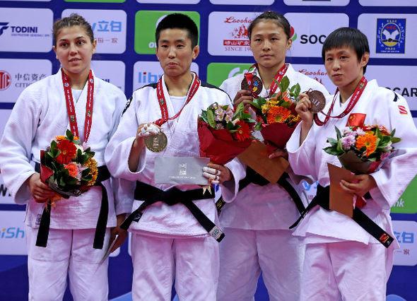 Women -52kg medalists Qingdao2016