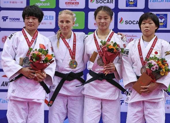 Women -57kg medalists Qingdao2016