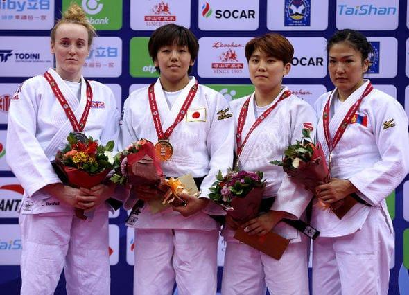 Women -63kg medalists Qingdao2016