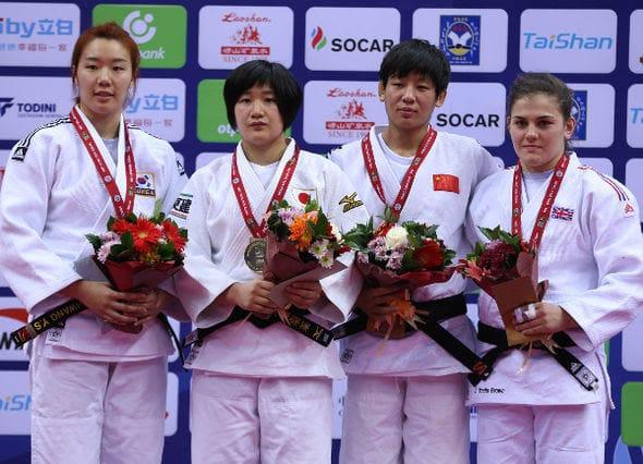 Women -70kg medalists Qingdao2016