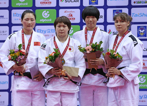 Women -78kg medalists Qingdao2016
