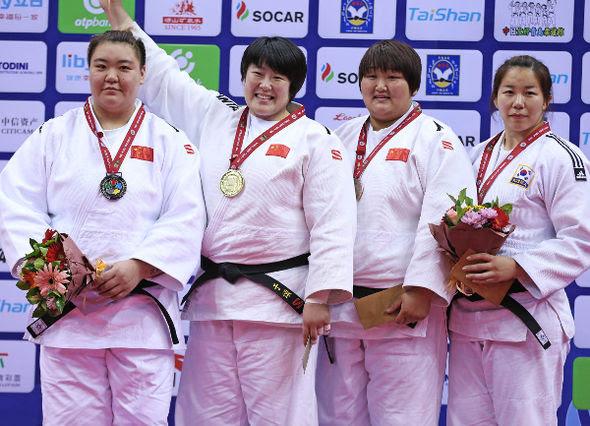 Women +78kg medalists Qingdao2016