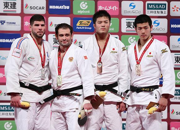Men -100kg medalists Tokyo2016