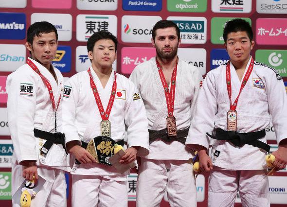 Men -60kg medalists Tokyo2016