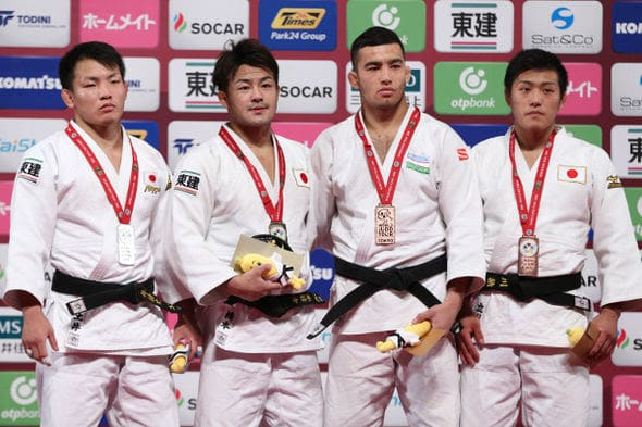 Men -73kg medalists Tokyo2016