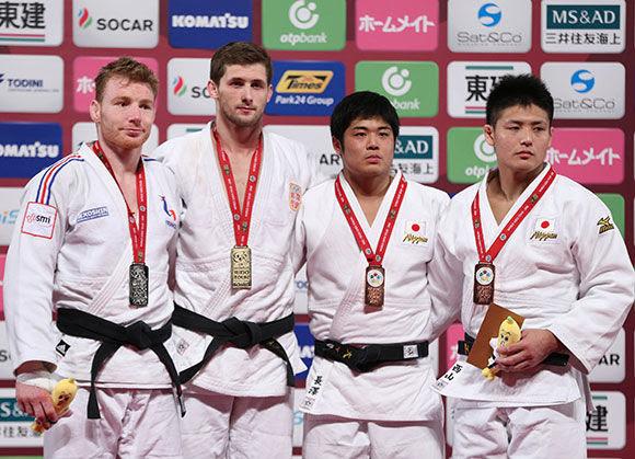 Men -90kg medalists Tokyo2016