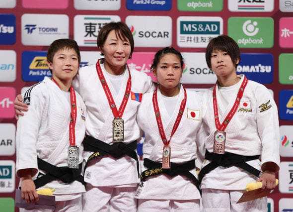 Women -48kg medalists Tokyo2016