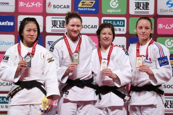 Women -63kg medalists Tokyo2016