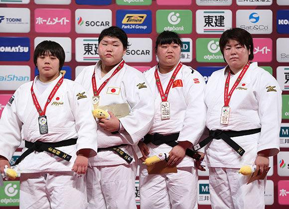 Women +78kg medalists Tokyo2016