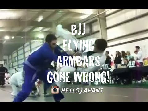 BJJ Flying Armbars gone WRONG!!! [HELLO JAPAN]