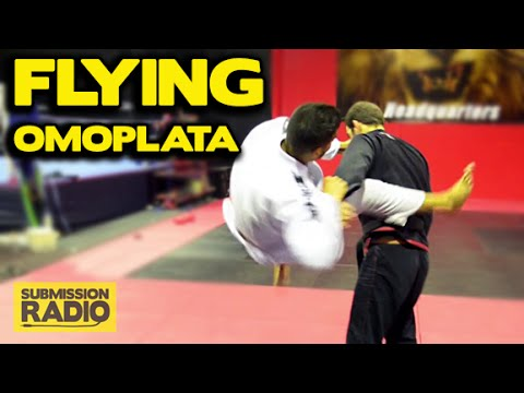 How to do a FLYING Omoplata | BJJ SAMBO